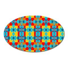 Pop Art Abstract Design Pattern Oval Magnet