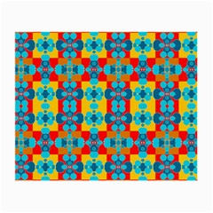Pop Art Abstract Design Pattern Small Glasses Cloth