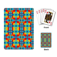 Pop Art Abstract Design Pattern Playing Card
