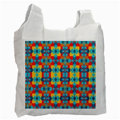 Pop Art Abstract Design Pattern Recycle Bag (one Side)