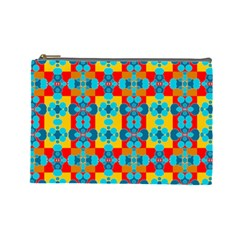 Pop Art Abstract Design Pattern Cosmetic Bag (large)