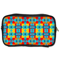 Pop Art Abstract Design Pattern Toiletries Bags 2 Side
