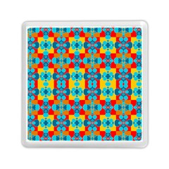 Pop Art Abstract Design Pattern Memory Card Reader (square)