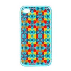 Pop Art Abstract Design Pattern Apple Iphone 4 Case (color)