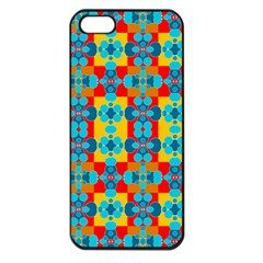 Pop Art Abstract Design Pattern Apple Iphone 5 Seamless Case (black)