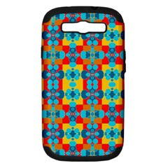 Pop Art Abstract Design Pattern Samsung Galaxy S Iii Hardshell Case (pc+silicone)