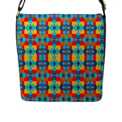 Pop Art Abstract Design Pattern Flap Messenger Bag (l)