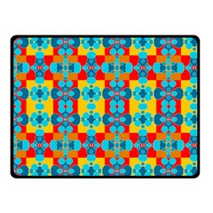 Pop Art Abstract Design Pattern Double Sided Fleece Blanket (small)