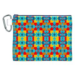 Pop Art Abstract Design Pattern Canvas Cosmetic Bag (xxl)
