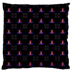Chakras Large Flano Cushion Case (one Side)