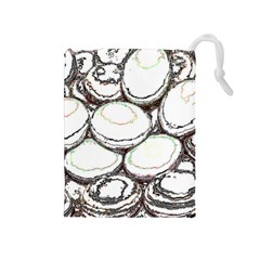 Eggs Drawstring Pouches (medium)