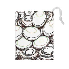 Eggs Drawstring Pouches (large)