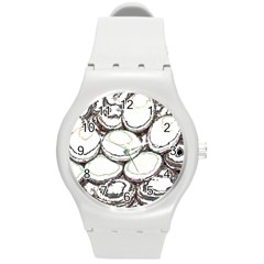 Eggs Round Plastic Sport Watch (m)