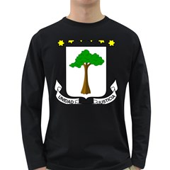Coat of Arms of Equatorial Guinea Long Sleeve Dark T-Shirts