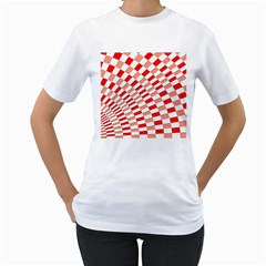 Graphics Pattern Design Abstract Women s T Shirt (white) (two Sided)