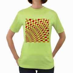 Graphics Pattern Design Abstract Women s Green T Shirt