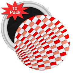 Graphics Pattern Design Abstract 3  Magnets (10 Pack)