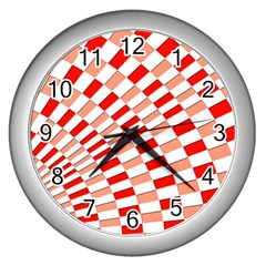 Graphics Pattern Design Abstract Wall Clocks (silver)