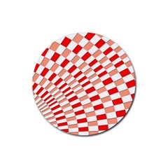 Graphics Pattern Design Abstract Rubber Coaster (round)