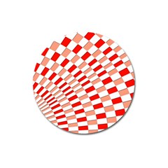 Graphics Pattern Design Abstract Magnet 3  (round)