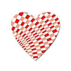 Graphics Pattern Design Abstract Heart Magnet