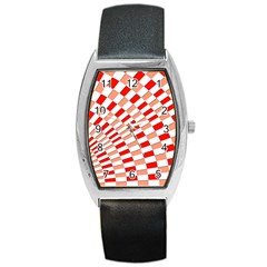 Graphics Pattern Design Abstract Barrel Style Metal Watch