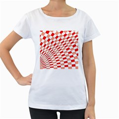Graphics Pattern Design Abstract Women s Loose-Fit T-Shirt (White)