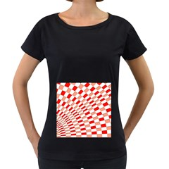 Graphics Pattern Design Abstract Women s Loose Fit T Shirt (black)