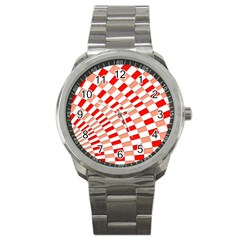 Graphics Pattern Design Abstract Sport Metal Watch