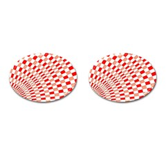 Graphics Pattern Design Abstract Cufflinks (oval)