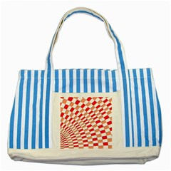Graphics Pattern Design Abstract Striped Blue Tote Bag