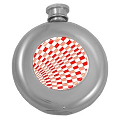 Graphics Pattern Design Abstract Round Hip Flask (5 Oz)