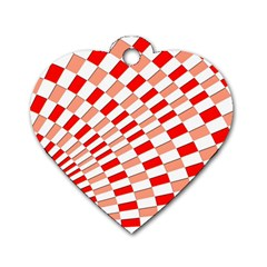 Graphics Pattern Design Abstract Dog Tag Heart (two Sides)