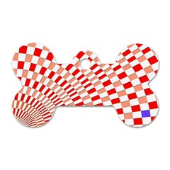 Graphics Pattern Design Abstract Dog Tag Bone (one Side)