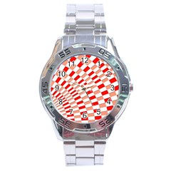Graphics Pattern Design Abstract Stainless Steel Analogue Watch
