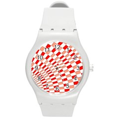 Graphics Pattern Design Abstract Round Plastic Sport Watch (M)