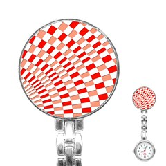 Graphics Pattern Design Abstract Stainless Steel Nurses Watch
