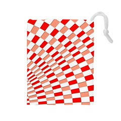 Graphics Pattern Design Abstract Drawstring Pouches (large)