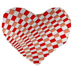 Graphics Pattern Design Abstract Large 19  Premium Flano Heart Shape Cushions
