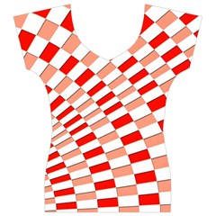 Graphics Pattern Design Abstract Women s V-Neck Cap Sleeve Top