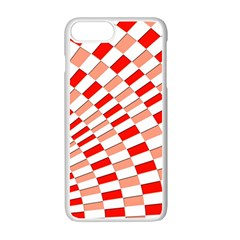 Graphics Pattern Design Abstract Apple Iphone 7 Plus White Seamless Case