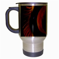 Fractal Mathematics Abstract Travel Mug (silver Gray)