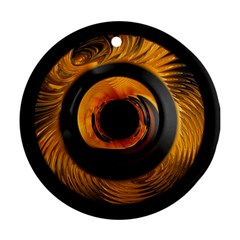 Fractal Mathematics Abstract Round Ornament (two Sides)