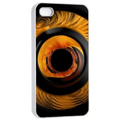 Fractal Mathematics Abstract Apple Iphone 4/4s Seamless Case (white)