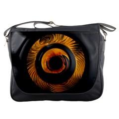 Fractal Mathematics Abstract Messenger Bags
