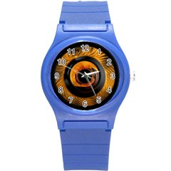 Fractal Mathematics Abstract Round Plastic Sport Watch (s)