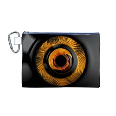Fractal Mathematics Abstract Canvas Cosmetic Bag (m)