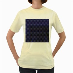 Fractal Art Honeycomb Mathematics Women s Yellow T Shirt