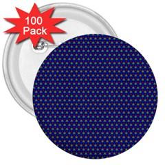 Fractal Art Honeycomb Mathematics 3  Buttons (100 pack)