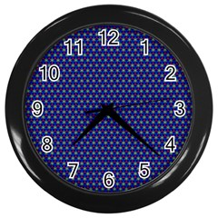 Fractal Art Honeycomb Mathematics Wall Clocks (Black)